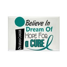 BELIEVE DREAM HOPE Ovarian Cancer Rectangle Magnet