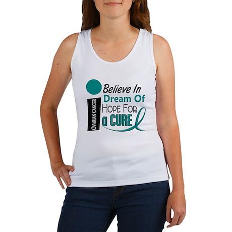 BELIEVE DREAM HOPE Ovarian Cancer Women's Tank Top