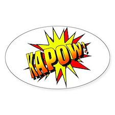 Kapow! Oval Decal