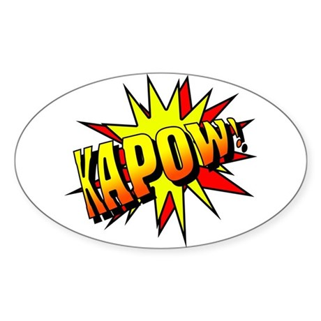 Kapow! Oval Sticker