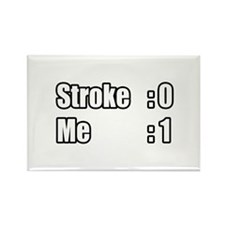 """I Beat My Stroke"" Rectangle Magnet"
