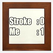 """""""I Beat My Stroke"""" Framed Tile"""