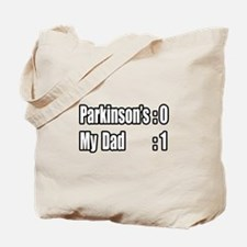 """""""Dad is Beating Parkinson's"""" Tote Bag"""