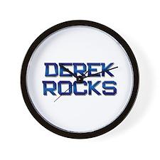 derek rocks Wall Clock