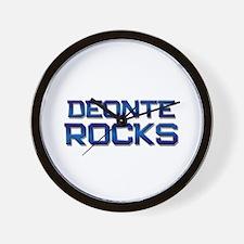 deonte rocks Wall Clock