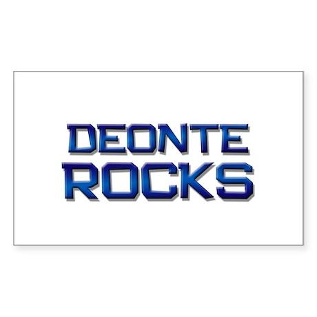 deonte rocks Rectangle Sticker