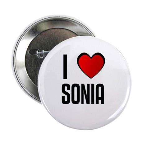 """I LOVE SONIA 2.25"""" Button (10 pack)"""