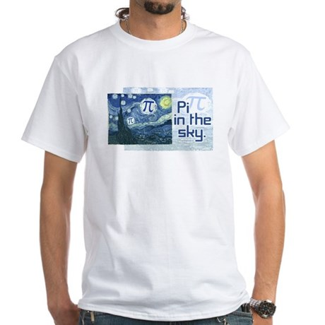 Pi in the Sky White T-Shirt