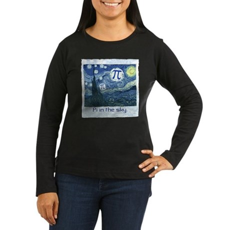 Pi in the Sky Women's Long Sleeve Dark T-Shirt