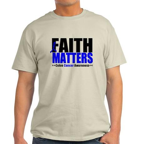Colon Cancer Faith Matters Light T-Shirt