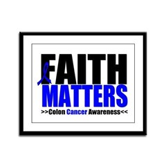 Colon Cancer Faith Matters Framed Panel Print