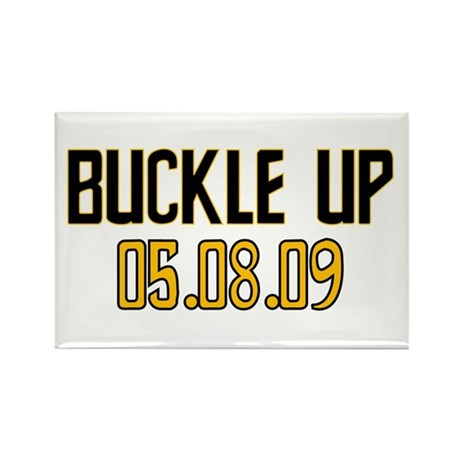 Buckle Up 05.08.09 Rectangle Magnet (100 pack)