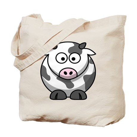 Cartoon Cow Tote Bag