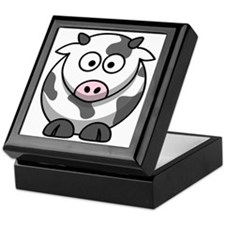 Cartoon Cow Keepsake Box