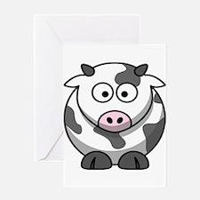 Cartoon Cow Greeting Card