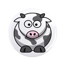 "Cartoon Cow 3.5"" Button (100 pack)"