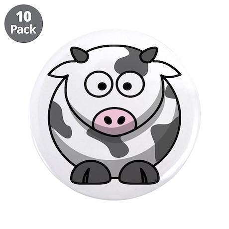 "Cartoon Cow 3.5"" Button (10 pack)"