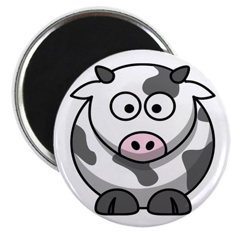 "Cartoon Cow 2.25"" Magnet (10 pack)"
