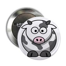 "Cartoon Cow 2.25"" Button (10 pack)"