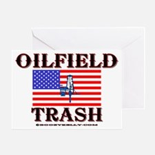 American Oilfield Trash Greeting Card, Oilpatch