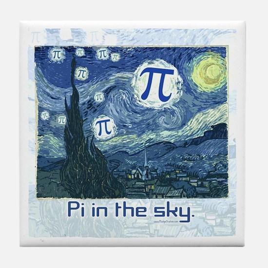 Pi in the Sky Tile Coaster