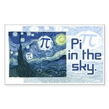 Pi in the Sky Rectangle Decal