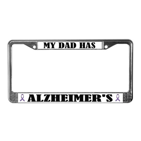 Father Has Alzeheimers License Plate Frame