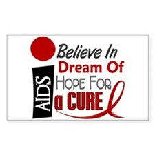 BELIEVE DREAM HOPE HIV & AIDS Rectangle Decal