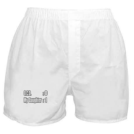 """Daughter Battles O.C.D."" Boxer Shorts"