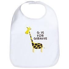 G is for Giraffe Bib