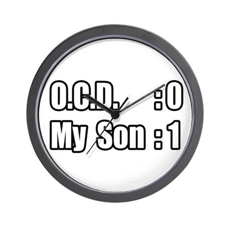 """""""My Son's Beating O.C.D."""" Wall Clock"""