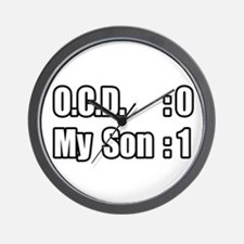 """My Son's Beating O.C.D."" Wall Clock"