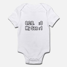 """My Son's Beating O.C.D."" Infant Bodysuit"