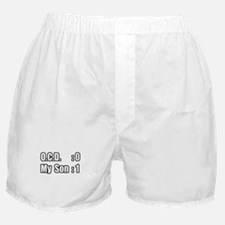 """My Son's Beating O.C.D."" Boxer Shorts"
