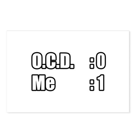 """""""I'm Beating OCD"""" Postcards (Package of 8)"""