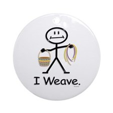 Cute Basket weaver Ornament (Round)