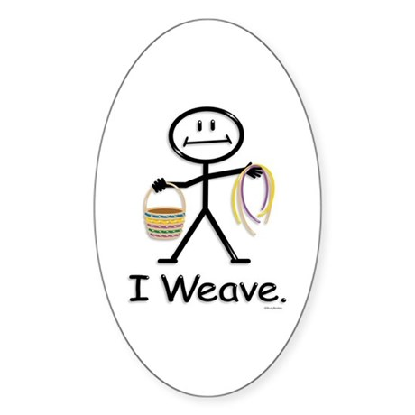 BusyBodies Basket Weaving Oval Sticker