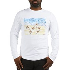 Sandpipers on Old Orchard Bea Long Sleeve T-Shirt