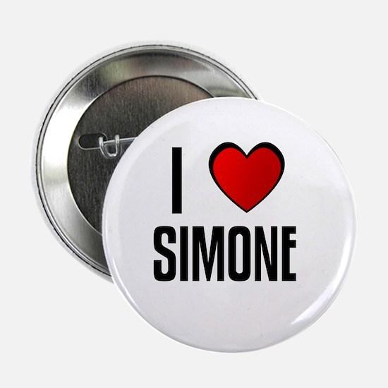 I LOVE SIMONE Button