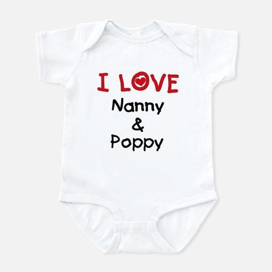 I Love Nanny and Poppy Infant Bodysuit