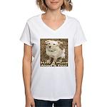 Have A Heart! Adopt A Dog! Women's V-Neck T-Shirt