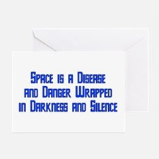 Space is a Disease Greeting Card