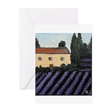 """""""Lavender Landscape"""" Greeting Card"""