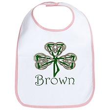 Brown Shamrock Bib