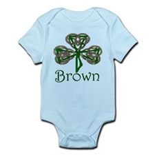 Brown Shamrock Infant Bodysuit