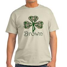 Brown Shamrock T-Shirt
