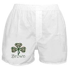 Brown Shamrock Boxer Shorts