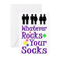 Whatever Rocks Your Socks (6 Greeting Cards)
