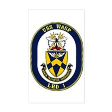 LHD 1 USS Wasp Rectangle Decal