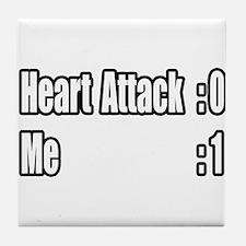 """""""Heart Attack Survivor"""" Tile Coaster"""